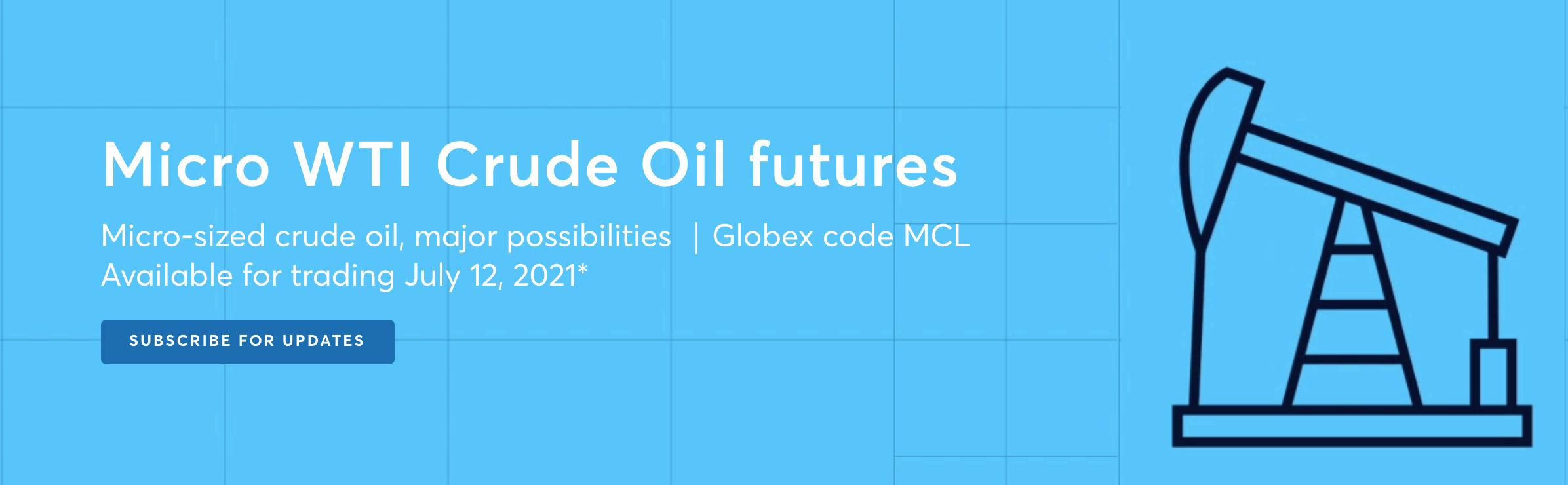Micro WTI Crude Oil futures - LAUNCH